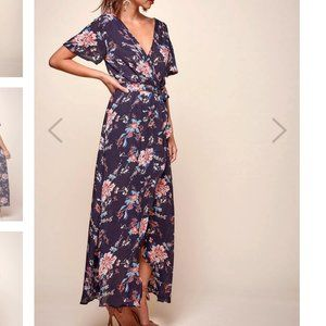 NWT Selfie Leslie- Cheri Floral Wrap Maxi Dress